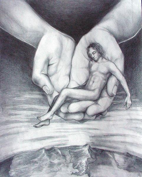 Isten tenyerében képmására teremtett alkotása, az ember