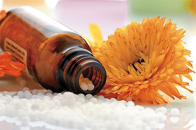 Homeopátiás szerrel való kezelés.