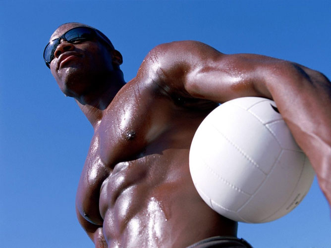 Afroamerikai férfi.
