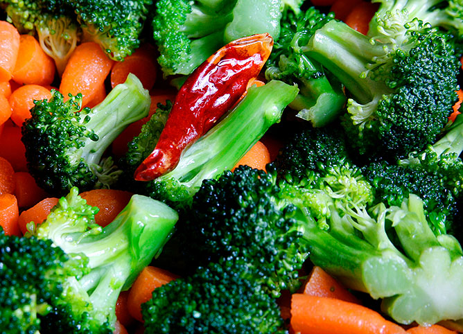 Friss zöldségek.