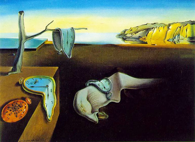 Dali festménye az időről.