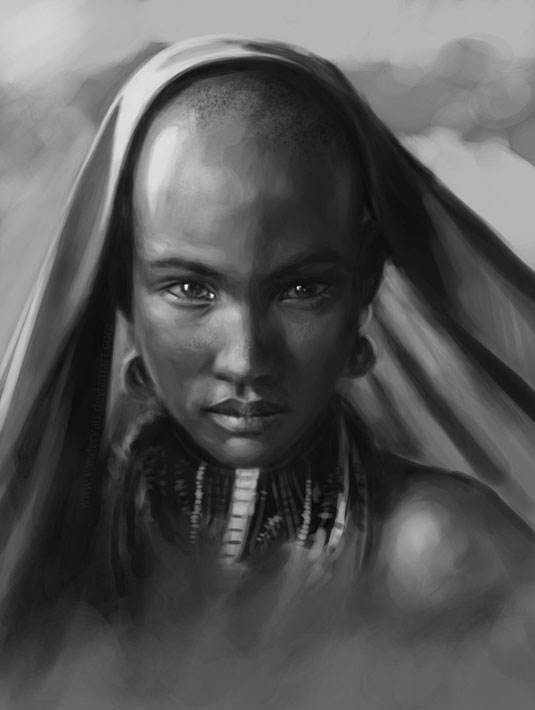 Afrikai női portré.