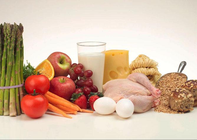Egészséges élelmiszerek.