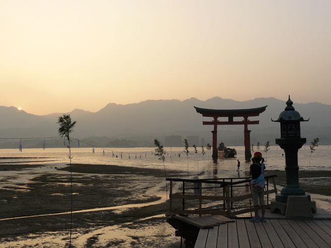 Japán naplemente
