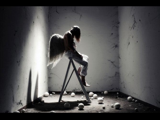 Szomorú angyal.