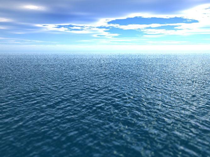 A végtelen óceán.