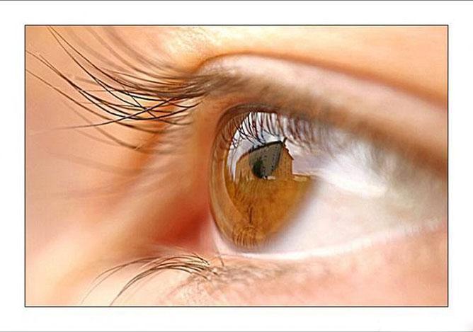 Barna női szem.