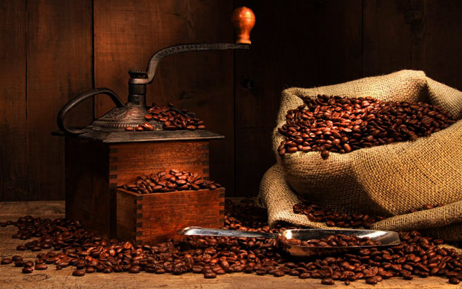 Kávé.