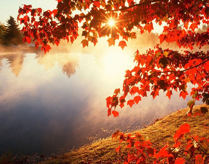 Őszi naplemente.