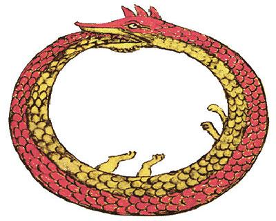 Farkába harapó kígyó.