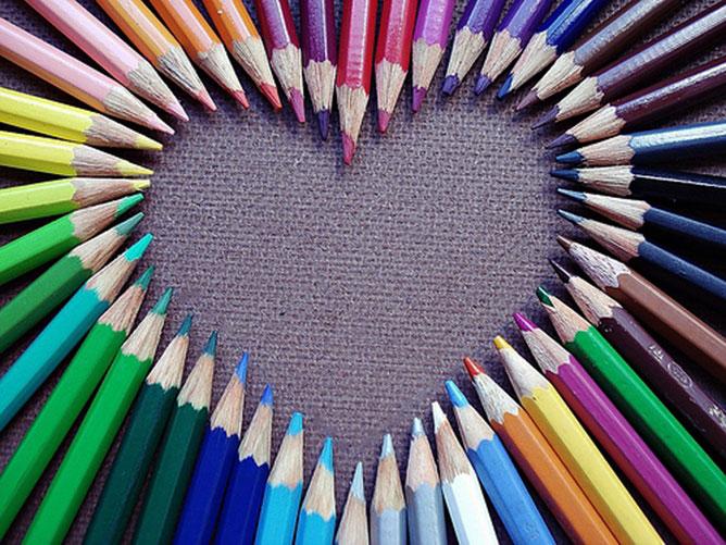 Színes ceruzák.