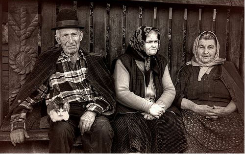 Idős emberek.