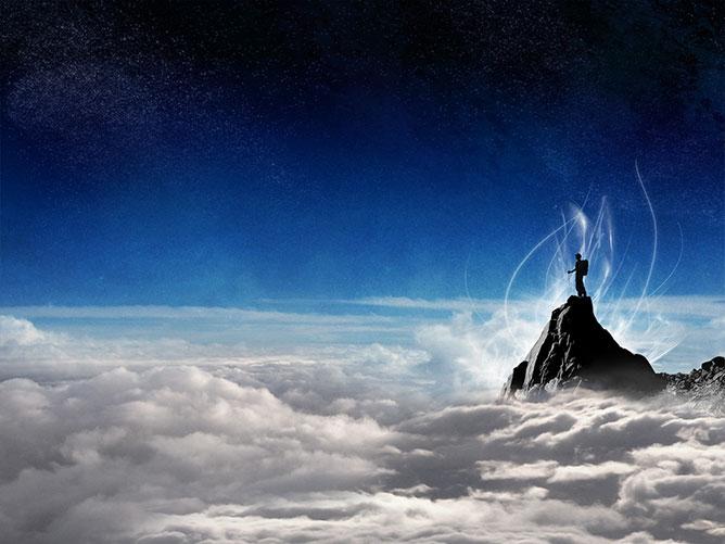 A világ tetején.