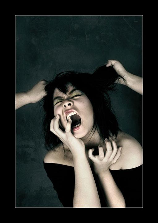 Angry girl.