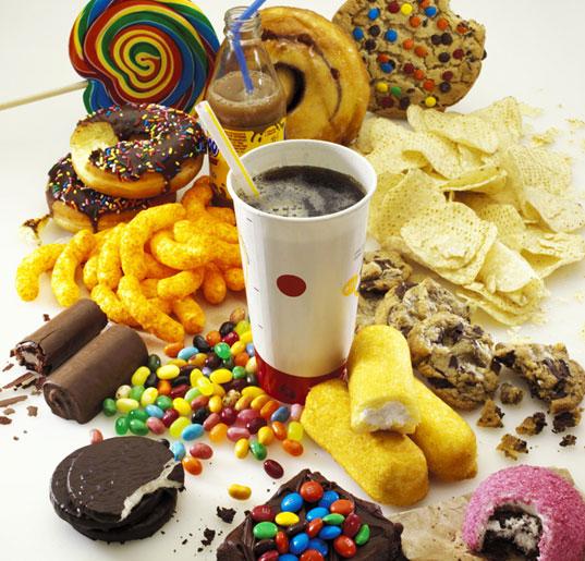 egészségtelen ételek.
