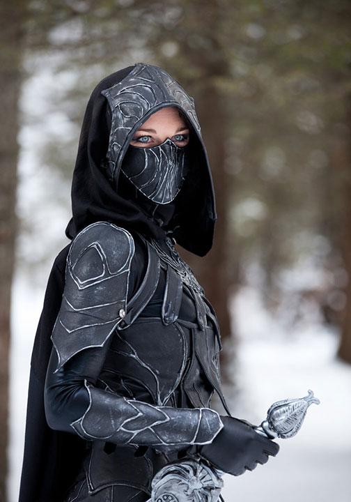 Girl in armor.
