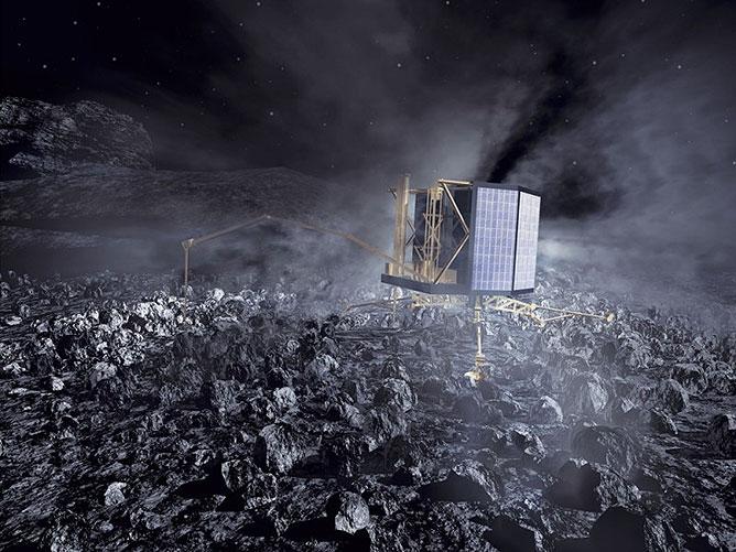 A Rosetta űrszonda robotja.