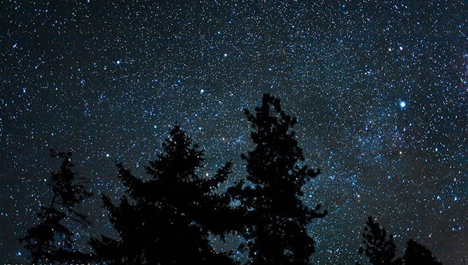 Csillagos ég.