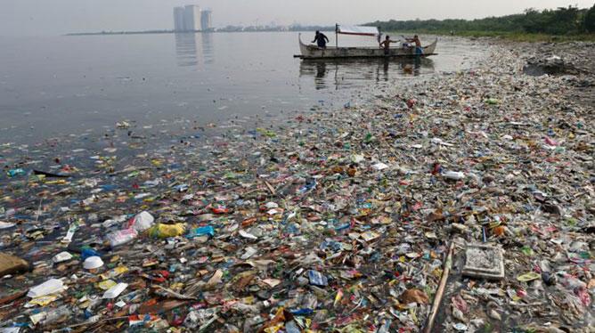 halak -műanyag hulladék.